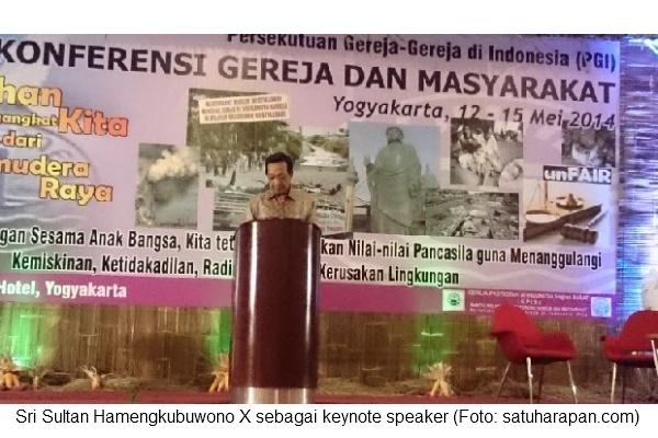 KGM hari 1 - Sultan HB X as a keynote speaker
