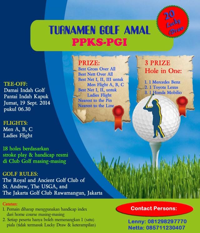 Turnamen Golf Amal PPKS-PGI 2