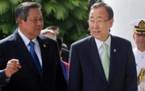 SBY dan Ban Ki-moon (Sekjen PBB)