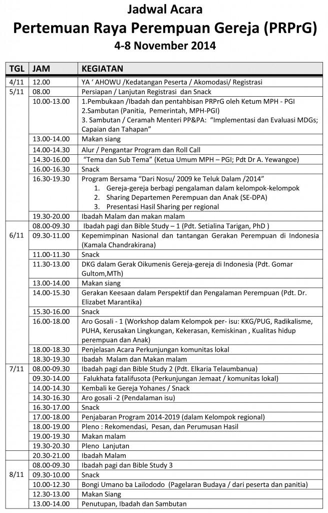 Jadwal PRPrG - Final
