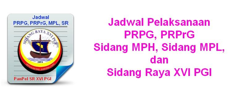 jJadwal SR XVI PGI