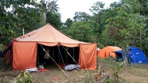 Salah satu tenda peserta pada kegiatan Interfaith Youth Camp.