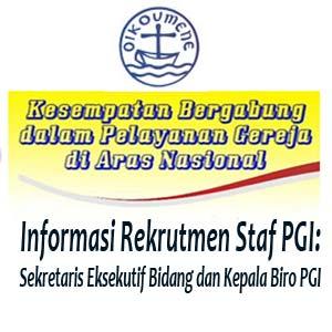 lowongan kerja di kantor PGI