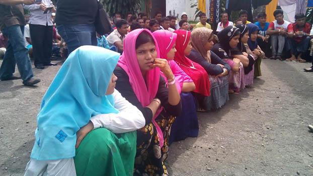 Sebagian dari para pengungsi Rohingya di Braspati Medan. (Foto: Penrap)