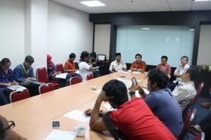 Beberapa wartawan yang hadir dalam jumpa pers di Grha Oikoumene PGI, Jakarta.
