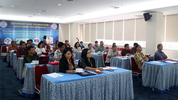 Peserta Seminar dan Workshop Harmonisasi antara Program pensiun yang diselenggarakan Dana pensiun PGI dan Program BPJS Ketenagakerjaan.