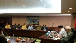 Pimpinan agama-agama bersama Menteri Agama Lukman Hakim