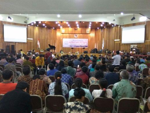 Suasana saat Pembukaan Sidang MPL-PGI 2017 di Balairung UKSW, Salatiga