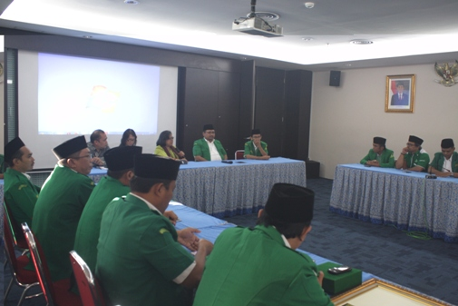Diskusi bersama di lantai 3 Grha Oikoumene, Jakarta