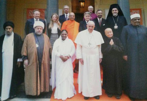 Para pemuka agama yang ikut menandatangani Deklarasi Penghapusan perbudakan modern di Vatikan, 2 Desember 2014