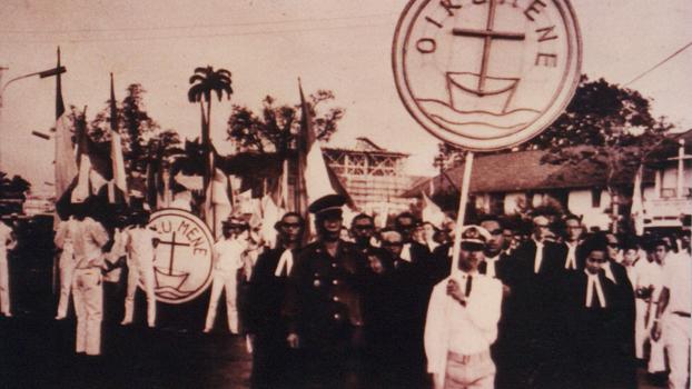 Arak-arakan perayaan 15 Tahun DGI, sekarang menjadi PGI.